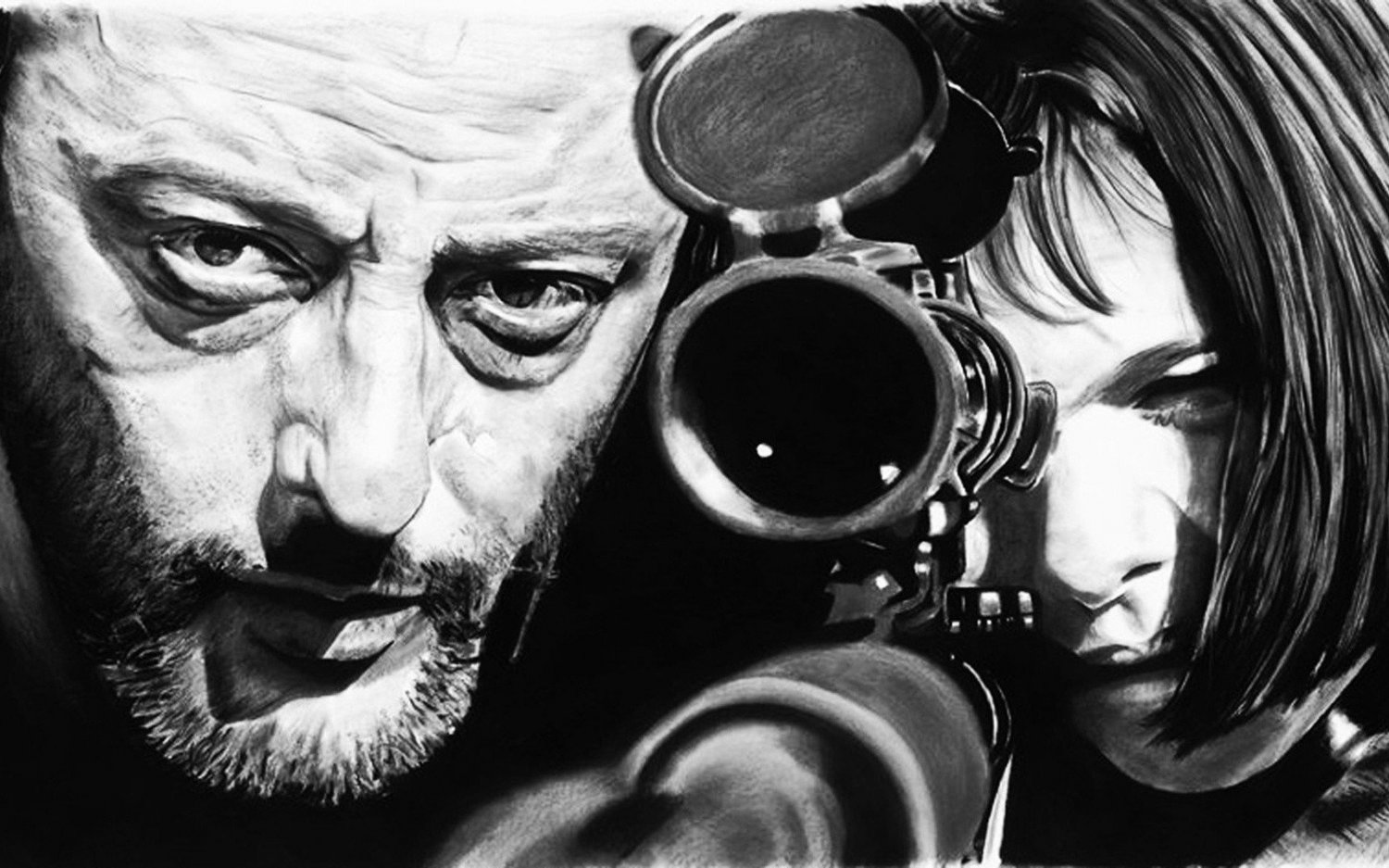 "Leon The Professional Movie  18""x28"" (45cm/70cm) Canvas Print"