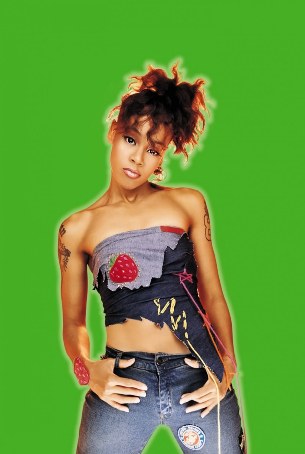 """Lisa Lopes  13""""x19"""" (32cm/49cm) Polyester Fabric Poster"""