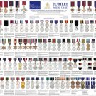 """Jubilee Medal Chart Infographic 13""""x19"""" (32cm/49cm) Polyester Fabric Poster"""