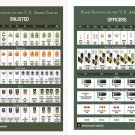 """Rank Insignia of the US Armed Forces Enlisted Officers 18""""x28"""" (45cm/70cm) Poster"""