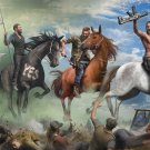 "Far Cry 5 Seed Family Horses Game 18""x28"" (45cm/70cm) Canvas Print"