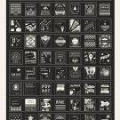 """A Stylistic Survey of Graphic Design Infographic Chart 18""""x28"""" (45cm/70cm) Canvas Print"""