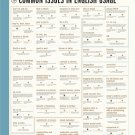"""Common Issues in English usage Chart 18""""x28"""" (45cm/70cm) Poster"""