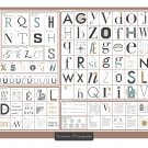 """The Taxonomy of Typography Chart 18""""x28"""" (45cm/70cm) Poster"""