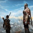 """God of War 2018 Kratos and Atreus 13""""x19"""" (32cm/49cm) Polyester Fabric Poster"""