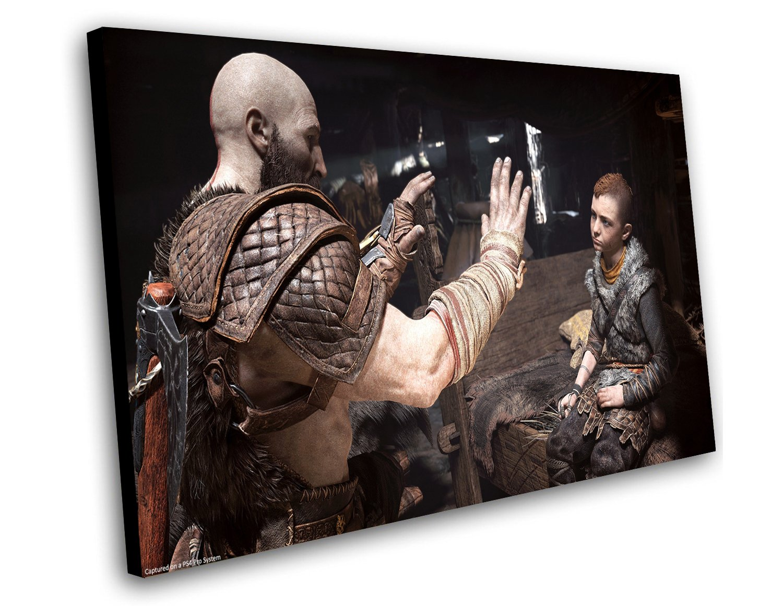 "God of War 2018 Kratos and Atreus 12""x16"" (30cm/40cm) Canvas Print"