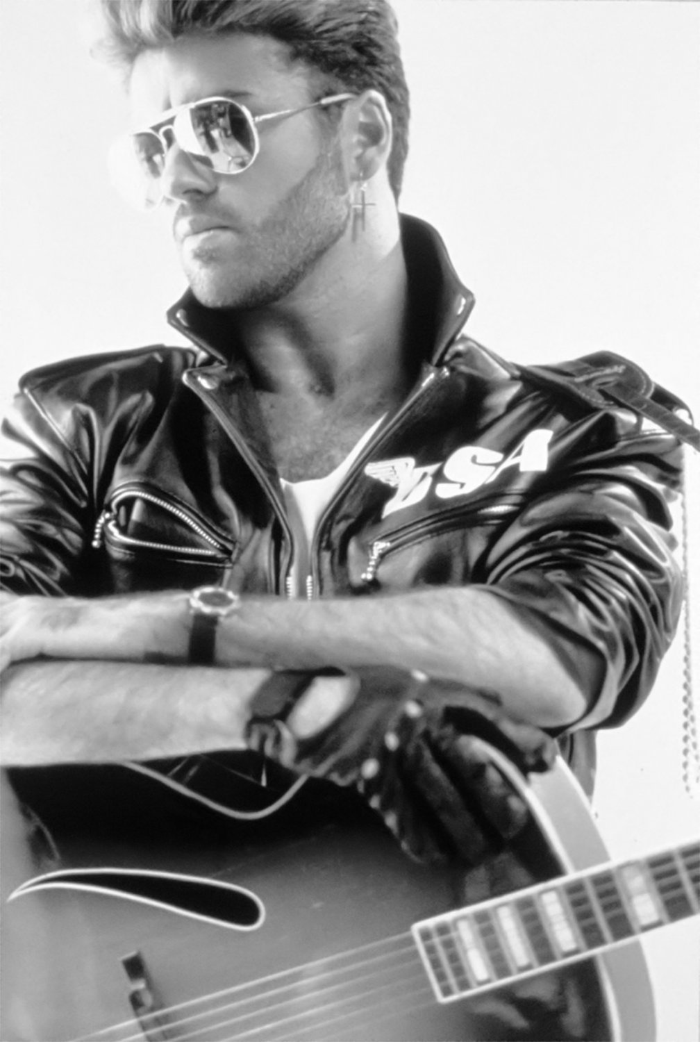 """George Michael 13""""x19"""" (32cm/49cm) Polyester Fabric Poster"""