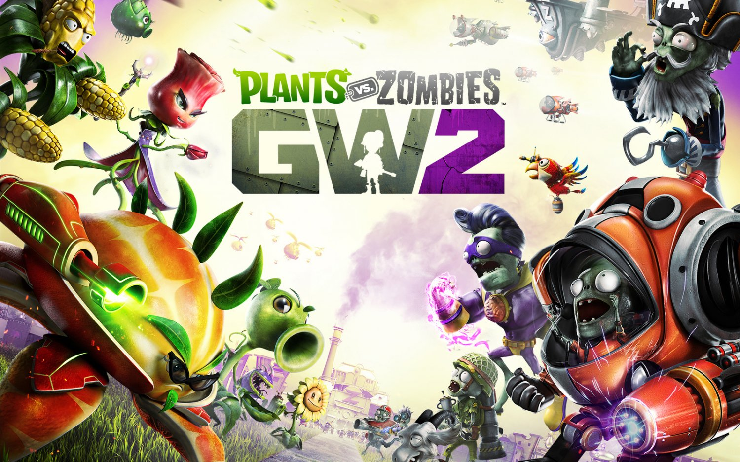 "Plants vs Zombies Garden Warfare 2  18""x28"" (45cm/70cm) Canvas Print"
