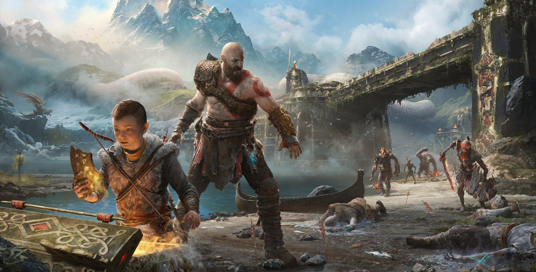 """God of War Kratos and Atreus 18""""x28"""" (45cm/70cm) Poster"""