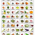 "Fruits and Vegetables Infographic Chart  18""x28"" (45cm/70cm) Canvas Print"