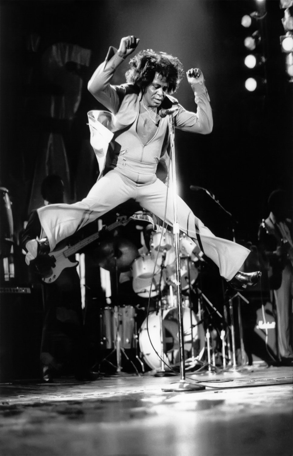 """James Brown  13""""x19"""" (32cm/49cm) Polyester Fabric Poster"""
