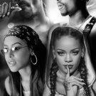 "Tupac Shakur Aaliyah Rihanna Snoop Dogg 18""x28"" (45cm/70cm) Canvas Print"