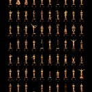 "Oscars through 85 years Infographic Chart  18""x28"" (45cm/70cm) Canvas Print"