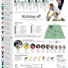 """Rugby World Cup Infographic Chart 13""""x19"""" (32cm/49cm) Polyester Fabric Poster"""