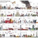 """Once Upon a Time in Hong Kong Infographic Chart 13""""x19"""" (32cm/49cm) Polyester Fabric Poster"""