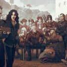 """The Witcher 3 Wild Hunt Anniversary 13""""x19"""" (32cm/49cm) Polyester Fabric Poster"""