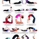 "Yoga Backbends Chart 18""x28"" (45cm/70cm) Canvas Print"