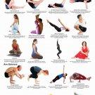 "Yoga Twists and Abdominal Toners Chart 18""x28"" (45cm/70cm) Poster"