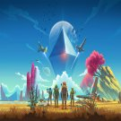 "No Man's Sky  13""x19"" (32cm/49cm) Polyester Fabric Poster"