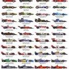 "Formula One Drivers World Champions Chart 18""x28"" (45cm/70cm) Poster"
