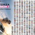 "Forza Horizon 3 Garage Cars Chart 18""x28"" (45cm/70cm) Canvas Print"