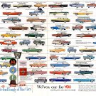 """The Ford Family of Fine Cars Chart 18""""x28"""" (45cm/70cm) Poster"""