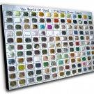 "The World of Semi-precious Stone Sample Chart  12""x16"" (30cm/40cm) Canvas Print"