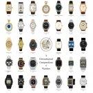 "Chronological Compendium of Watches Chart 13""x19"" (32cm/49cm) Canvas Print"