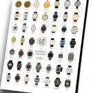 "Chronological Compendium of Watches Chart 12""x16"" (30cm/40cm) Canvas Print"