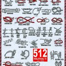 """Forty Knots A Visual aid for Knot Tying Boy Scouts Chart 13""""x19"""" (32cm/49cm) Canvas Print"""