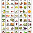 """Fruits and Vegetables Infographic Chart  13""""x19"""" (32cm/49cm) Polyester Fabric Poster"""