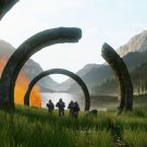 """Halo Infinite Game  13""""x19"""" (32cm/49cm) Polyester Fabric Poster"""