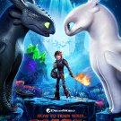 """How to Train Your Dragon The Hidden World 13""""x19"""" (32cm/49cm) Polyester Fabric Poster"""