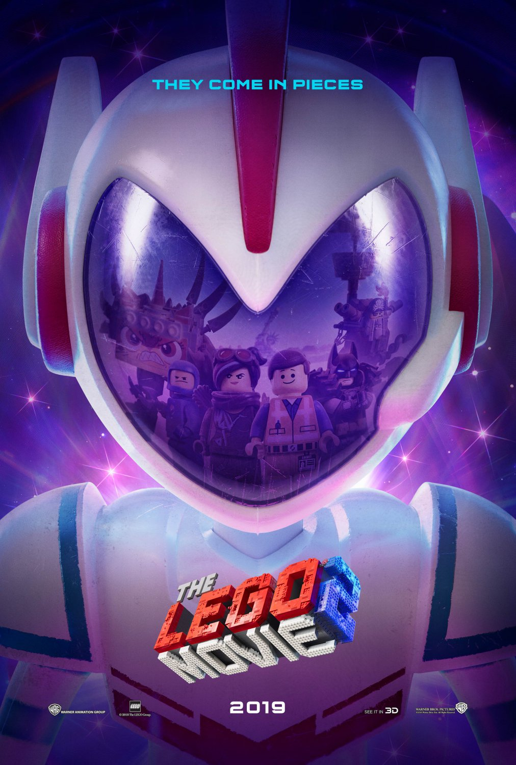 "The Lego Movie 2 The Second Part  13""x19"" (32cm/49cm) Polyester Fabric Poster"
