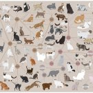 """Cats Categorized Infographic Chart 13""""x19"""" (32cm/49cm) Polyester Fabric Poster"""