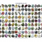"""Minerals Native Elements Infographic Chart 13""""x19"""" (32cm/49cm) Polyester Fabric Poster"""