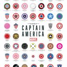 "The Shields of Captain America Marvel Chart 13""x19"" (32cm/49cm) Polyester Fabric Poster"