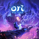 """Ori and the Will of the Wisps  13""""x19"""" (32cm/49cm) Polyester Fabric Poster"""