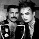 """Freddie Mercury Boy George 13""""x19"""" (32cm/49cm) Polyester Fabric Poster"""