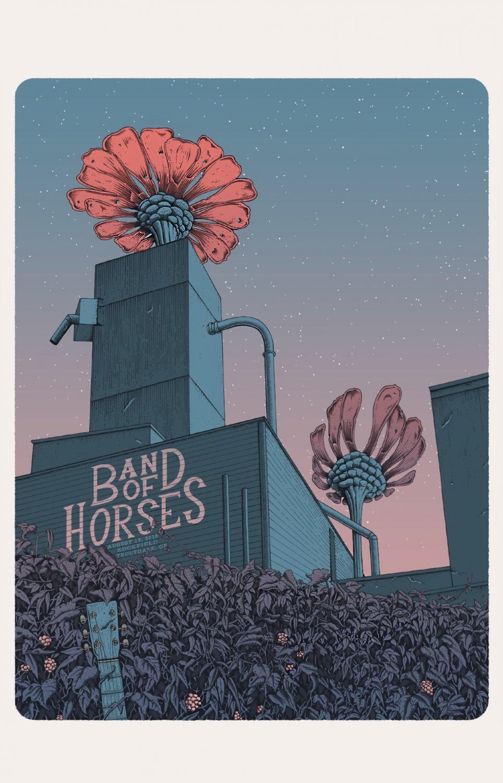 "Band of Horses 18""x28"" (45cm/70cm) Canvas Print"