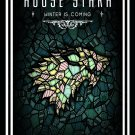 "Game of Thrones House Stark Sigil 13""x19"" (32cm/49cm) Polyester Fabric Poster"