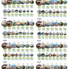 """The Most Visited National parks in the United States 13""""x19"""" (32cm/49cm) Polyester Fabric Poster"""