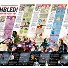 "Avengers Assembled Infographic Chart 18""x28"" (45cm/70cm) Canvas Print"
