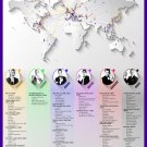 """Bond Voyage Mapping the Global Journeys of Every 007 18""""x28"""" (45cm/70cm) Canvas Print"""