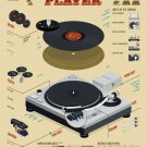 """The Record Player Infographic Chart 13""""x19"""" (32cm/49cm) Polyester Fabric Poster"""
