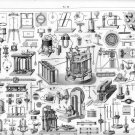 """Vintage Engineering Experimental Science Tools Chart 18""""x28"""" (45cm/70cm) Poster"""
