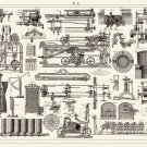 "Vintage Engineering Experimental Science Tools Chart 18""x28"" (45cm/70cm) Poster"