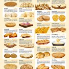 "Cheese meets bread an international love story Chart 13""x19"" (32cm/49cm) Polyester Fabric Poster"