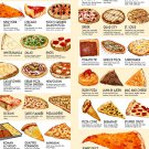 """Have you tried these 40 types of Pizza Chart 18""""x28"""" (45cm/70cm) Canvas Print"""