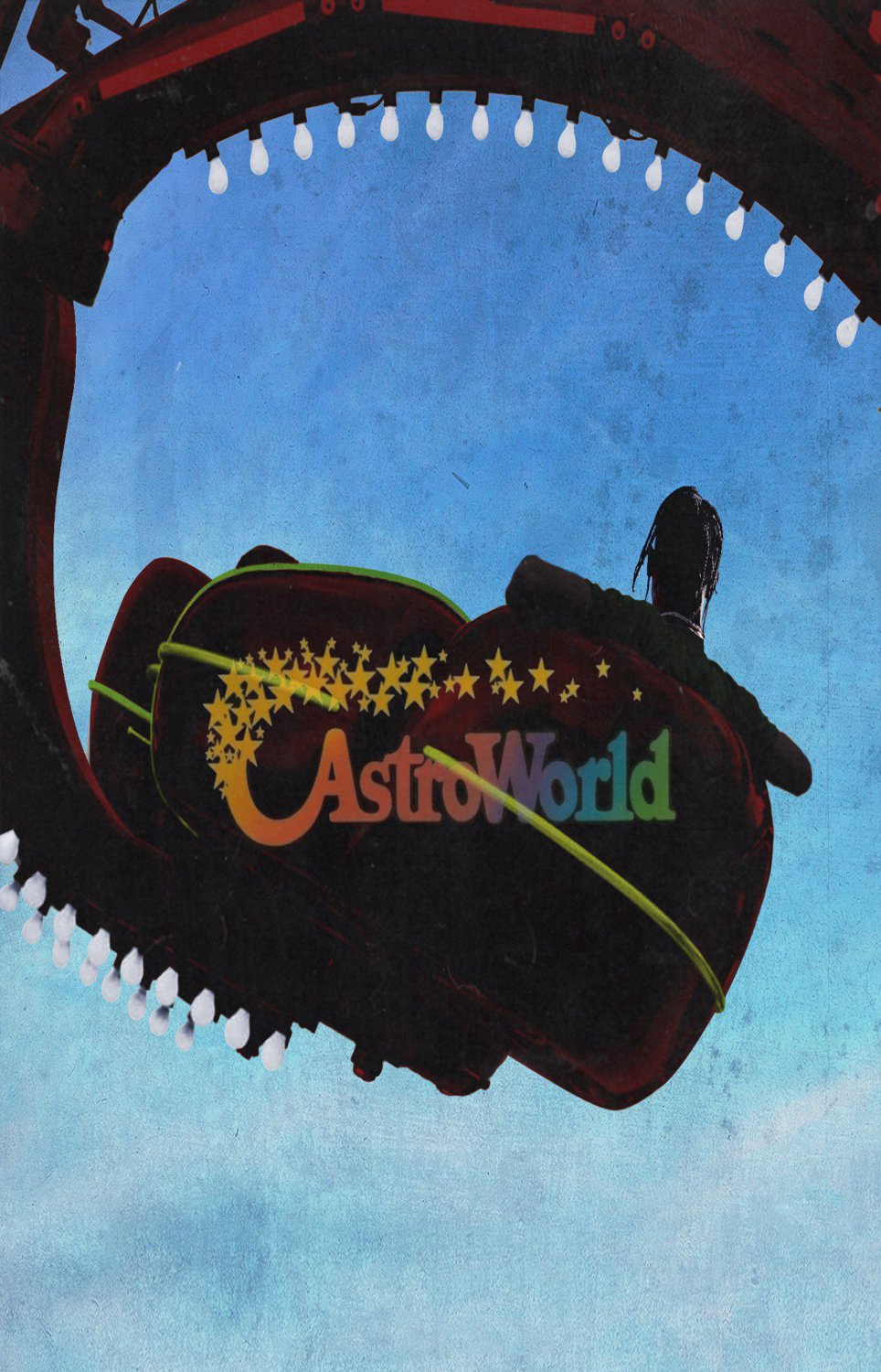 "Travis Scott  Astroworld 13""x19"" (32cm/49cm) Polyester Fabric Poster"